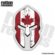 Canada Flag Spartan Helmet Decal Canadian Sticker