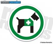 Service Dogs Allowed Sticker Decal