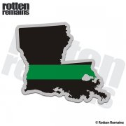 Louisiana State Thin Green Line Decal LA Military Ranger Sticker