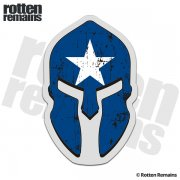 Bonnie Blue Flag Spartan Helmet Decal Sticker