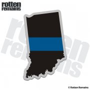 Indiana State Thin Blue Line Decal IN Police Sheriff Vinyl Sticker