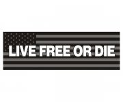 "Live Free or Die Subdued American Flag Bumper Sticker 9""x3"" USA Decal"