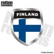 Finland Flag Shield Badge Sticker Decal