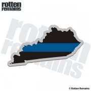 Kentucky State Thin Blue Line Decal KY Police Sheriff Vinyl Sticker