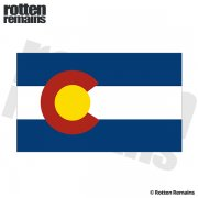 Colorado State Flag CO Vinyl Sticker Decal