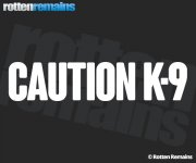 "Caution K-9 Decal 9""x2"" Police Dog White REFLECTIVE Vinyl Window Sticker V2"