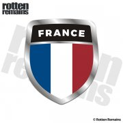 France Flag Shield Badge Sticker Decal