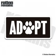 ADOPT Animal Rescue Sticker Decal