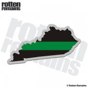 Kentucky State Thin Green Line Decal KY Military Ranger Sticker
