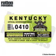 "Kentucky Zombie Hunting Permit 4"" Sticker Decal"