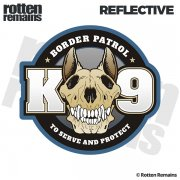 "Border Patrol K9 Dog Unit K-9 5""x4.6"" Reflective Sticker Decal"