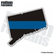 Connecticut State Thin Blue Line Decal CT Police Sheriff Vinyl Sticker