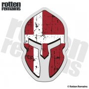 Denmark Flag Spartan Helmet Decal Danish Nordic Sticker