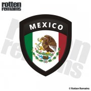Mexico Flag Mexican Shield Badge Sticker Decal