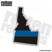 Idaho State Thin Blue Line Decal ID Police Sheriff Vinyl Sticker