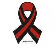 Thin Red Line Ribbon Firefighter Sticker Decal v2