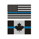 Thin Blue Line Flag Stickers