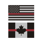 Thin Red Line Flag Stickers