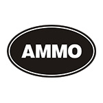 Black/White Oval Ammo Can Stickers