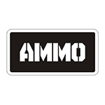 Black/White Ammo Can Stickers