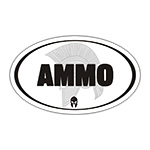 White Oval Ammo Can Stickers