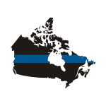 Thin Blue Line Canada / Prov Stickers