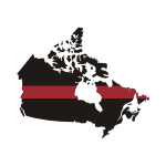 Thin Red Line Canada / Prov Stickers