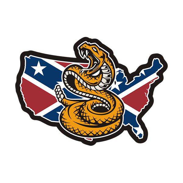 c11f19803da Rebel Confederate Flag USA Map Don t Tread on Me Sticker Decal ...