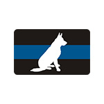 K-9 Thin Blue Line Stickers