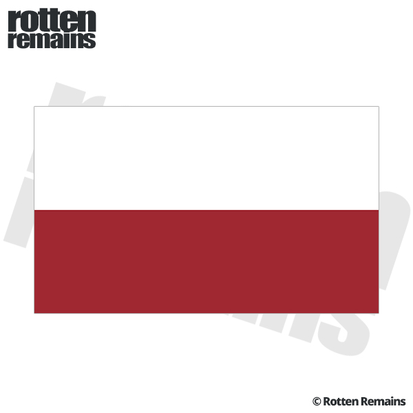 Poland flag decal polish polska car truck bumper window vinyl sticker