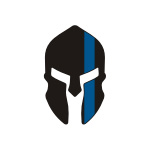Skull / Spartan Blue Line Stickers