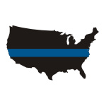 Thin Blue Line USA / State Stickers
