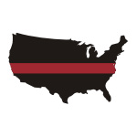 Thin Red Line USA / State Stickers